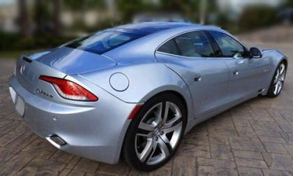 2012 FISKER KARMA ECOCHIC - SILVER ON WHITE 2