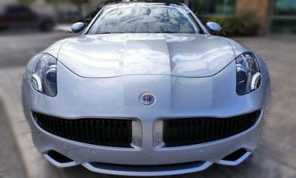 2012 FISKER KARMA ECOCHIC - SILVER ON WHITE 4