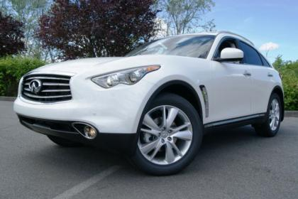 2012 INFINITI FX35 BASE - WHITE ON BLACK