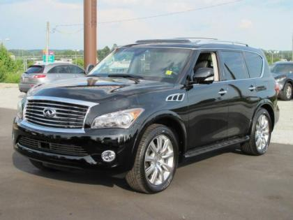 2012 INFINITI QX56 BASE - BLACK ON BLACK