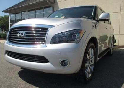 2012 INFINITI QX56 AWD - SILVER ON BEIGE 3