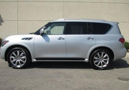 2012 INFINITI QX56 AWD - SILVER ON BEIGE 4