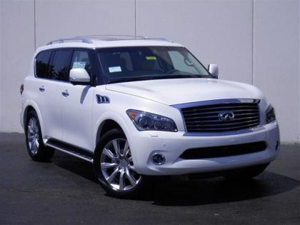 2012 INFINITI QX56 BASE - WHITE ON BEIGE 1