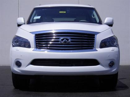 2012 INFINITI QX56 BASE - WHITE ON BEIGE 2