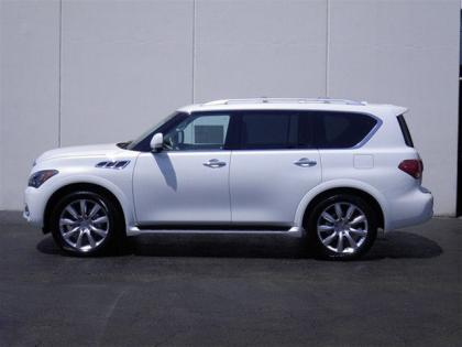 2012 INFINITI QX56 BASE - WHITE ON BEIGE 4