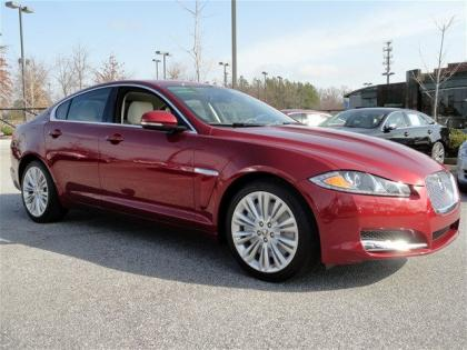2012 JAGUAR XF PORTFOLIO - RED ON BEIGE