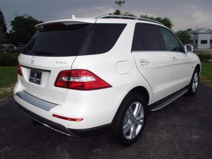 2012 MERCEDES BENZ ML350 4MATIC - WHITE ON BEIGE 3