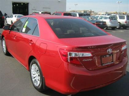 Export New 2012 Toyota Camry Le Red On Beige