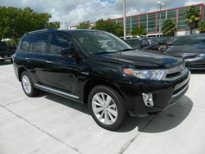 2012 TOYOTA HIGHLANDER HYBRID LIMITED - BLACK ON BEIGE
