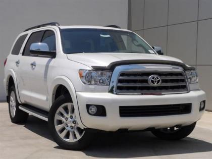 2012 TOYOTA SEQUOIA PLATINUM - WHITE ON GRAY 1