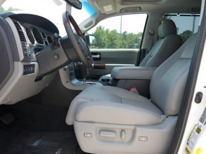 2012 TOYOTA SEQUOIA PLATINUM - WHITE ON GRAY 4