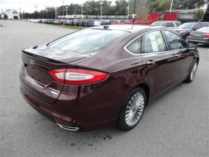 2013 FORD FUSION TITANIUM - BORDEAUX ON BLACK 4