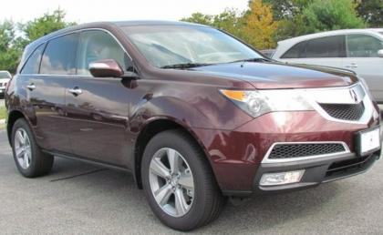 2013 ACURA MDX AWD - MAROON ON BEIGE