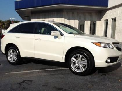 2013 ACURA RDX TECH PACKAGE - WHITE ON BEIGE 1