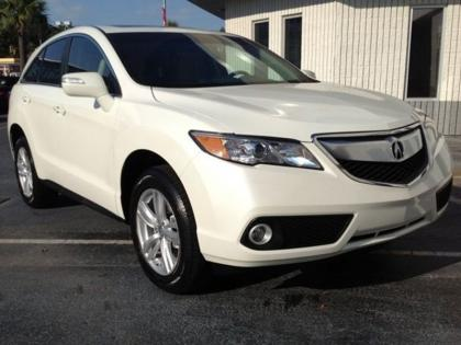 2013 ACURA RDX TECH PACKAGE - WHITE ON BEIGE 2
