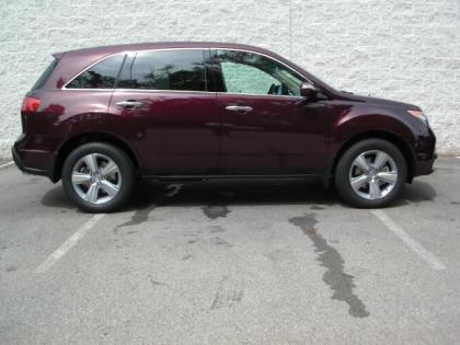 2013 ACURA MDX TACHNOLOGY - DARK RED ON BEIGE