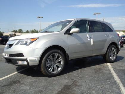 2013 ACURA MDX ADVANCE - SILVER ON BLACK 1