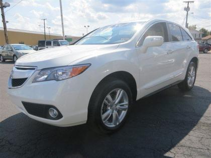 2013 ACURA RDX BASE - WHITE ON BEIGE