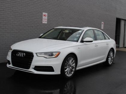 2013 AUDI A6 3.0T PREMIUM - WHITE ON BEIGE