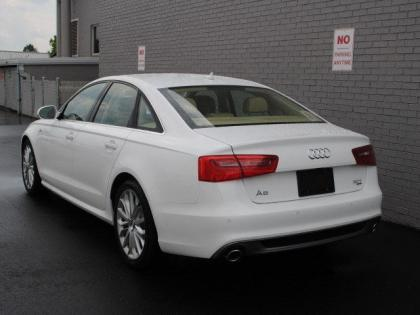 2013 AUDI A6 3.0T PREMIUM - WHITE ON BEIGE 4