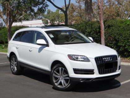 2013 AUDI Q7 3.0T PREMIUM - WHITE ON BEIGE