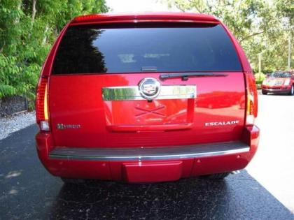 2013 CADILLAC ESCALADE HYBRID BASE - RED ON BEIGE 4
