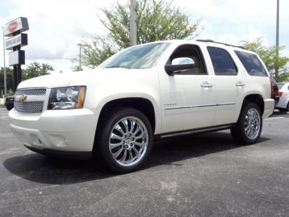 2013 CHEVROLET TAHOE LTZ - WHITE ON BEIGE 1