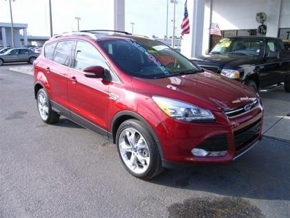 2013 FORD ESCAPE TITANIUM - RED ON BLACK