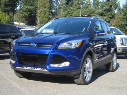 2013 FORD ESCAPE TITANIUM - BLUE ON BLACK