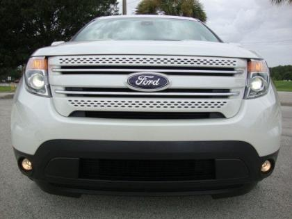 2013 FORD EXPLORER LIMITED - WHITE ON BLACK-BROWN 2