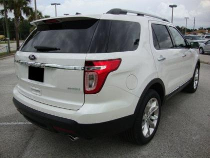 2013 FORD EXPLORER LIMITED - WHITE ON BLACK-BROWN 3
