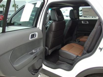 2013 FORD EXPLORER LIMITED - WHITE ON BLACK-BROWN 5