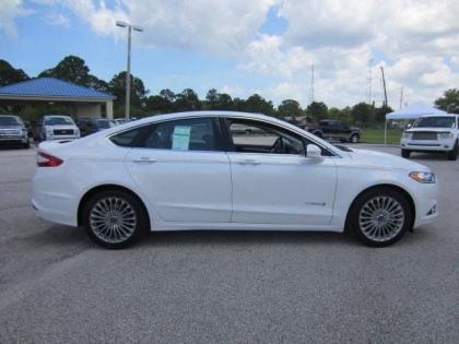 export new 2013 ford fusion hybrid titanium - white on black