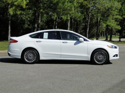 Export New 2013 Ford Fusion Titanium White On Black