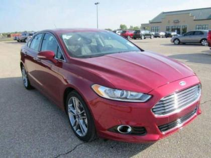 2013 FORD FUSION TITANIUM - RED ON BLACK