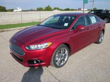 2013 FORD FUSION TITANIUM - RED ON BLACK 2