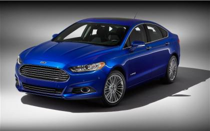 2013 FORD FUSION HYBRID SE - BLUE ON BLACK