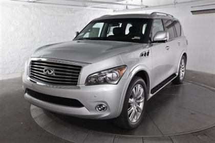 2013 INFINITI QX56 AWD - SILVER ON BLACK 1