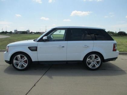 export new 2013 land rover range rover sport supercharged white on beige. Black Bedroom Furniture Sets. Home Design Ideas