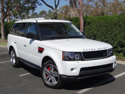 2013 LAND ROVER RANGE ROVER SPORT SUPERCHARGED - WHITE ON BLACK