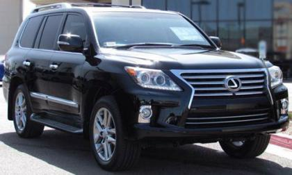 2013 LEXUS LX570 BASE - BLACK ON BLACK
