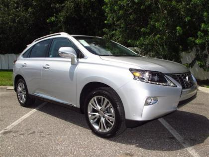 2013 LEXUS RX350 BASE - SILVER ON BLACK