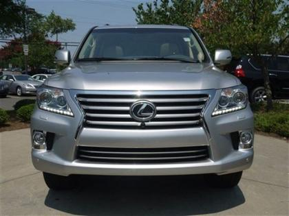 2013 LEXUS LX570 BASE - SILVER ON BEIGE 2