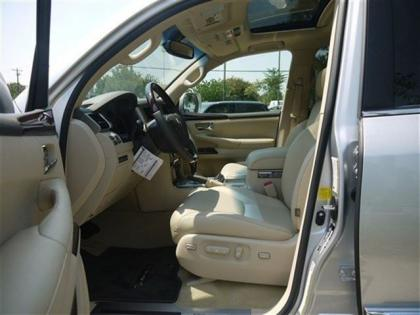 2013 LEXUS LX570 BASE - SILVER ON BEIGE 5