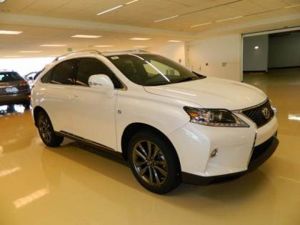 2013 LEXUS RX350 F SPORT - WHITE ON BLACK 1