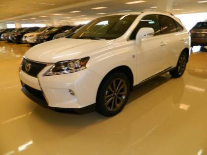 2013 LEXUS RX350 F SPORT - WHITE ON BLACK 2