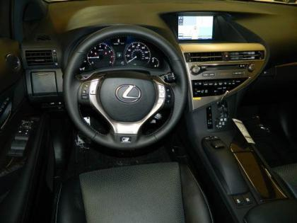 2013 LEXUS RX350 F SPORT - WHITE ON BLACK 5