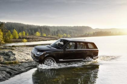 2013 LAND ROVER RANGE ROVER BASE - BLACK ON WHITE 2