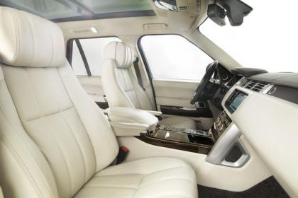 2013 LAND ROVER RANGE ROVER BASE - BLACK ON WHITE 6