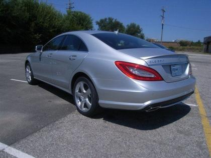 2013 MERCEDES BENZ CLS550 4MATIC - SILVER ON BLACK 3